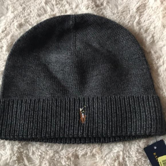 26b3fd184 Polo Ralph Lauren Merino Wool Knit Beanie Hat NWT